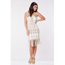 Molly Flapper Dress (white...