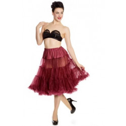 Long Petticoat Burgundy