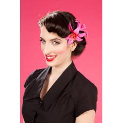 Lilie Haarklipp doppelt (pink)