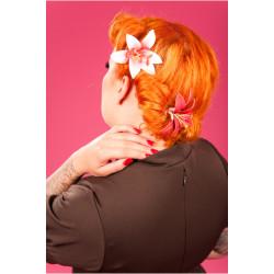 Lilie Haarklipp (diverse Farben)