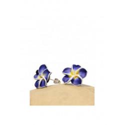 Ohrstecker Plumeria Blau