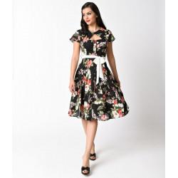 Hawaiian Ashcroft Dress Unique Vintage (black)