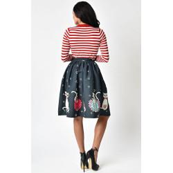 Feline Skirt Unique Vintage