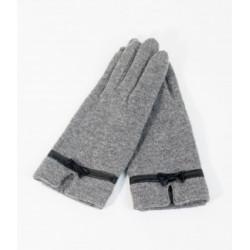 Grey Knit Gloves Unique Vintage