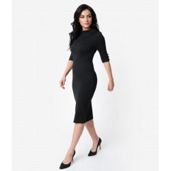 Black Cassidy Dress Unique Vintage