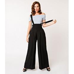 Rochelle Suspender Pants Unique Vintage (schwarz)