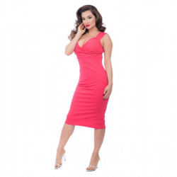 Verona Diva Dress Red Hibiscus