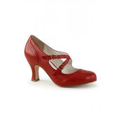 Flapper 35 Sandale aus Kunstleder (rot)