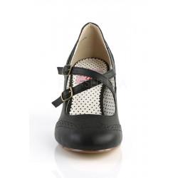 Flapper 35 Sandale aus Kunstleder (schwarz)