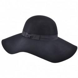 Wool Felt Floppy Hat (black)