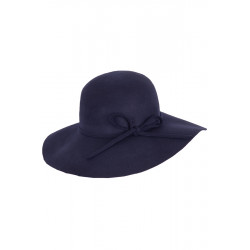 Wool Felt Floppy Hat (navy)