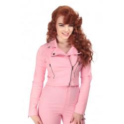 Outlaw Plain Biker Jacket (pink)