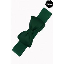 Bella Bow Belt (bottle green)