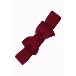 Bella Bow Belt (burgundy)