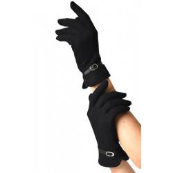 Buckle Trim Gloves Unique Vintage (schwarz)