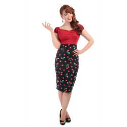 Fiona Cherry Print Skirt