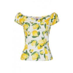 Lemon Off Shoulder Top