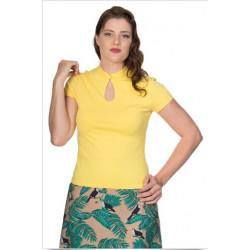 Mandarin Collar Top (gelb)